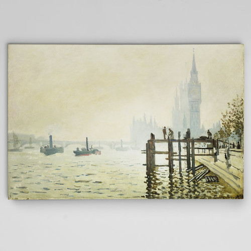 Wexford Home Thames-Below-Westminster Canvas Wall Art