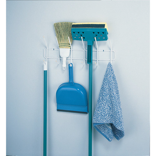 ClosetMaid White Stainless Steel Over-the-Door Utility Hook