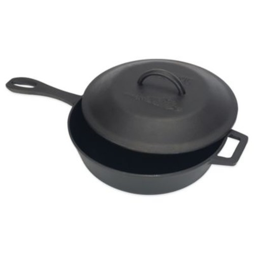 Bayou Classic 3-Quart Cast Iron Covered Skillet