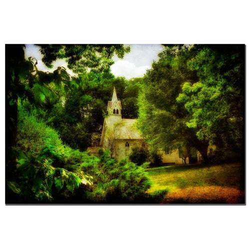 Lois Bryan 'The Little Church on the Corner' Canvas Art