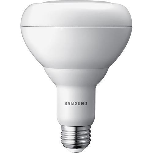 Samsung - 680-Lumen, 9.8-Watt Dimmable BR30 LED Light Bulb, 65-Watt Equivalent - Warm White
