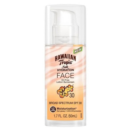 Hawaiian Tropic Silk Hydration Sunscreen Face Lotion with SPF 30 - 1.7 oz