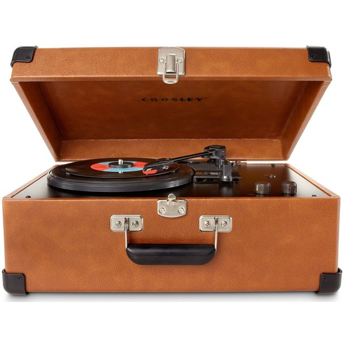 Crosley CR6249A-TA Keepsake Portable USB Turntable with Software for Ripping & Editing Audio, Tan [Tan]