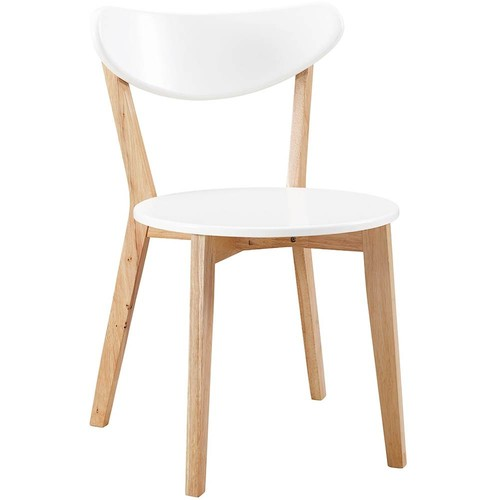 Walker Edison - Retro Modern Wood and High-Grade MDF Dining Chair (Set of 2)