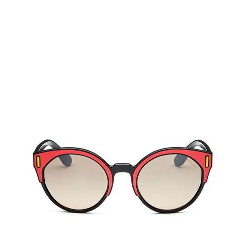 Mirrored Round Sunglasses, 53mm