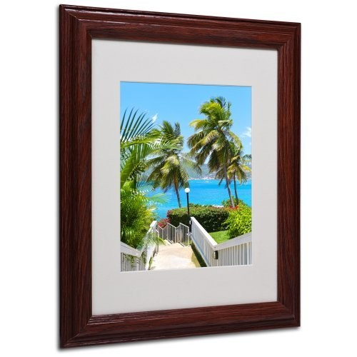 Virgin Islands 3 Canvas Wall Art by CATeyes, Wood Frame, 11 by 14-Inch [11 by 14-Inch]
