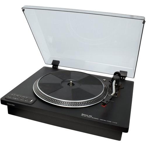 Toshiba - Bluetooth Stereo Turntable - Black