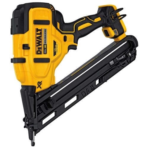 DEWALT 20-Volt MAX XR Lithium-Ion Cordless 15-Gauge Angled Finish Nailer (Tool-Only)
