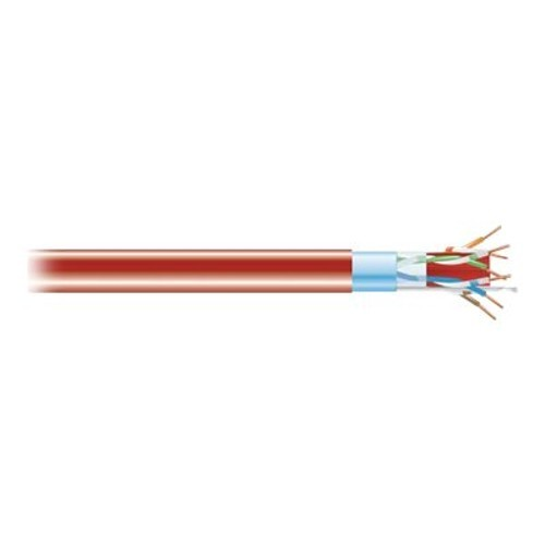 Black Box Bulk cable - 1000 ft - foiled unshielded twisted pair (F/UTP) - CAT 6a - IEEE 802.3an - solid - red (C6ABC50S-RD-1000)