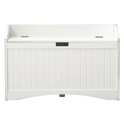 Madison Lift top Storage Bench, MEDIUM, WHITE [White, 36