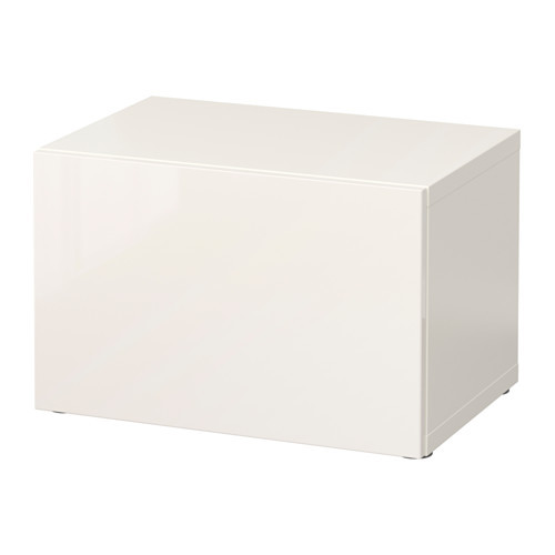 BEST Shelf unit with glass door, white, Glassvik white/frosted glass