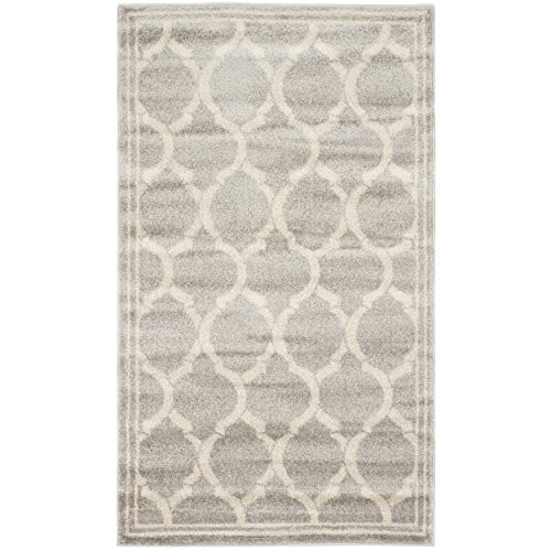 Safavieh Amherst Collection AMT415B Light Grey and Ivory Indoor/ Outdoor Area Rug