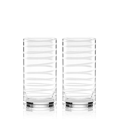 kate spade new york Charlotte Street White 2-pc. Highball Glass Set