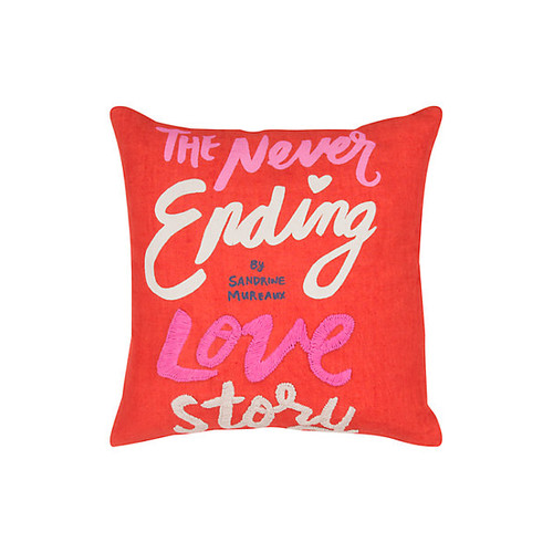 neverending love story pillow