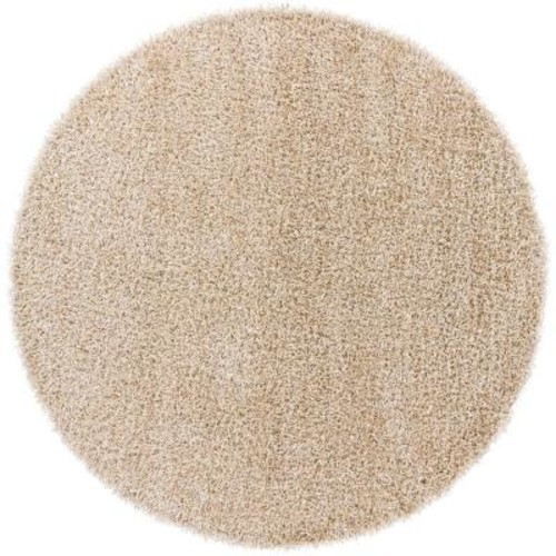 Chandra Zara Beige 7 ft. 9 in. x 7 ft. 9 in. Indoor Round Area Rug