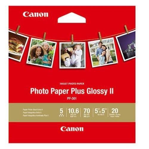 Canon Photo Paper Plus II Glossy Surface Gloss Inkjet Photo Paper, 20 Sheets