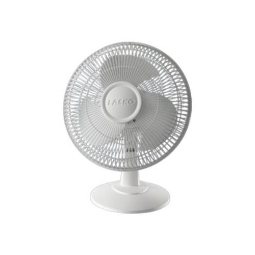 Lasko Products Lasko 12Inch 3Speed Oscillating Table Top Fan, White