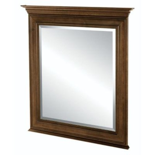 Home Decorators Collection Templin 34 in. L x 30 in. W Framed Vanity Wall Mirror in Coffee