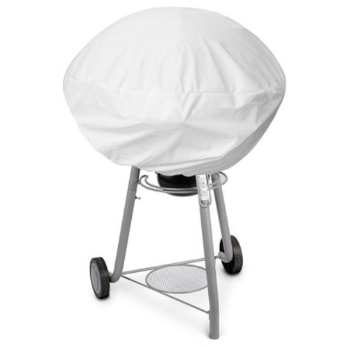 KoverRoos Weathermax 13052 Small Kettle Cover, 27-Inch Diameter by 23-Inch Height, White [White, 27