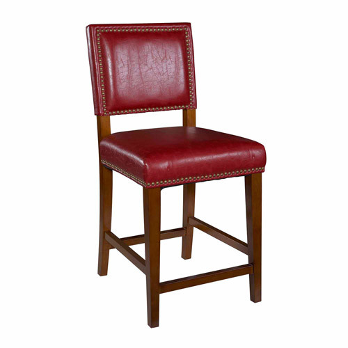 Linon 0232RED-01-KD-U Bar Stools