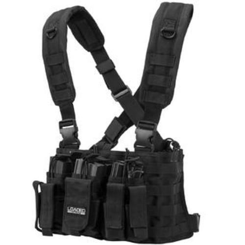 Barska Loaded Gear VX-400 Tactical Chest Rig-Black per EA