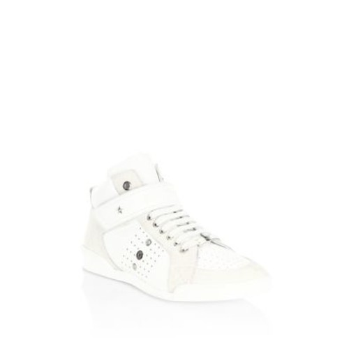 JIMMY CHOO Perforated High-Top Trainer Sneakers