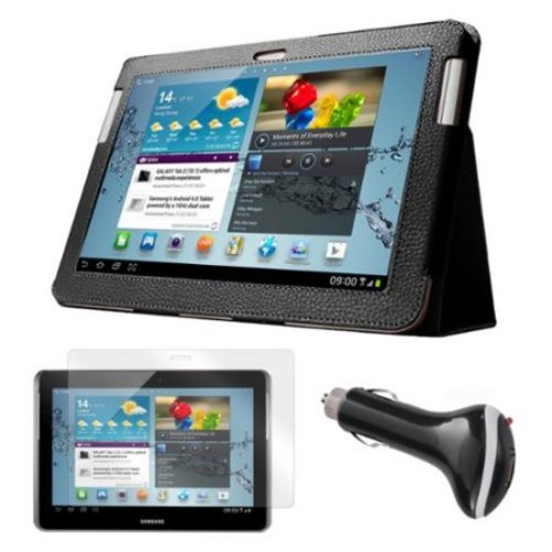 Mgear Accessories Samsung Galaxy Tab 2 Case with Screen Protector and Car Charger, 10.1
