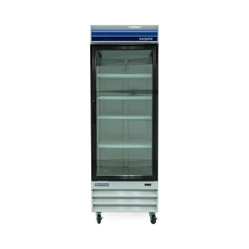 Norpole 28 in. W 23 cu. ft. Single Swing Glass Door Commercial Refrigerator in White
