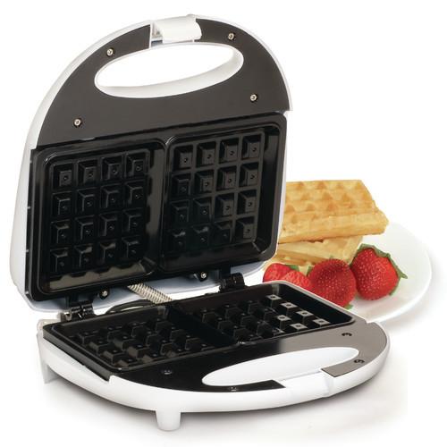 Elite Cuisine EWM-9008K Maxi-Matic Non-Stick Waffle Maker, White [White, None]