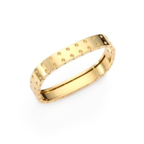 Pois Moi 18K Yellow Gold Two-Row Bangle Bracelet