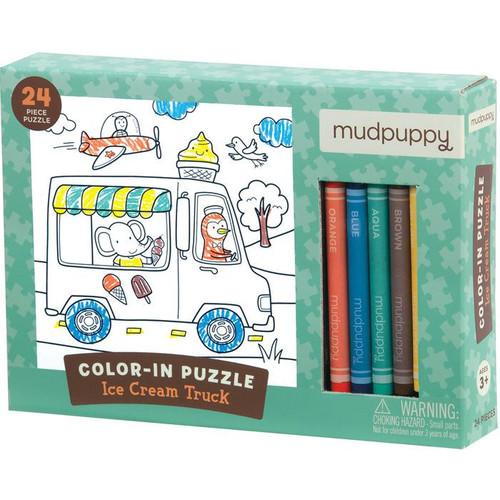 Ice Cream Truck Color-In Puzzle