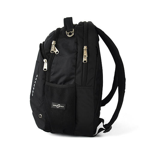Obersee Oslo Backpack Diaper Bag and Cooler - Black / Yellow