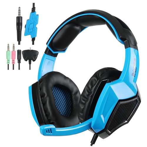 Sades SA-920 Stereo Gaming Headset Headphone with MIC for PS4/Xbox/PC Blue