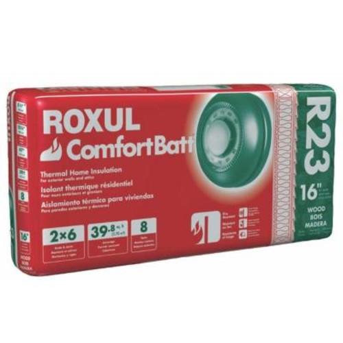 Roxul ComfortBatt 5-1/2 in. x 15-1/4 in. x 47 in. R-23 Fire Resistant Stone Wool Insulation (12-Bags)