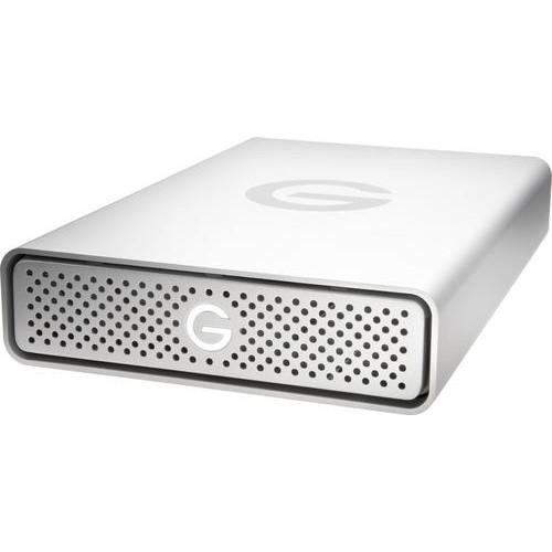 G-Technology - G-Tech G-DRIVE 4TB External USB Type C Hard Drive - Silver