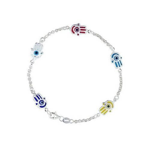 Bling Jewelry Turkish Evil Eye Jewelry Sterling Silver Hamsa Bracelet