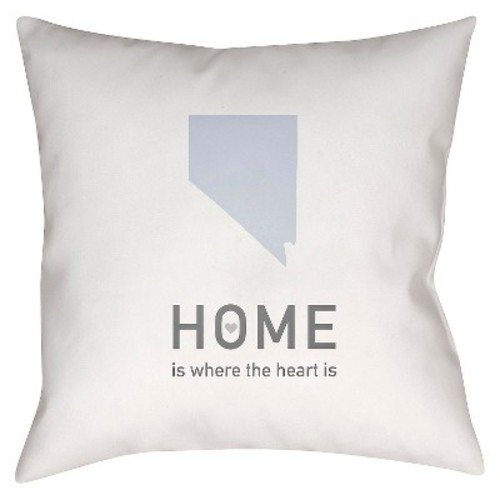 Surya Homebound Nevada Pillow - White/Gray (18\