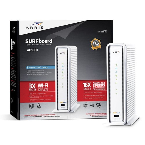 ARRIS SURFboard Wireless DOCSIS 3.0 Cable Modem and Wi-Fi Router SBG6900-AC