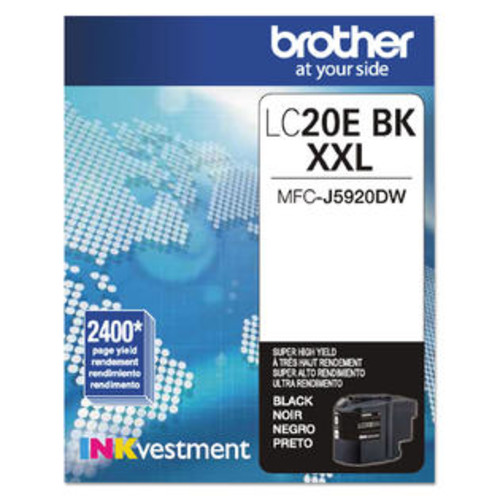 Brother LC20EBK INKvestment Super High-Yield Ink Black