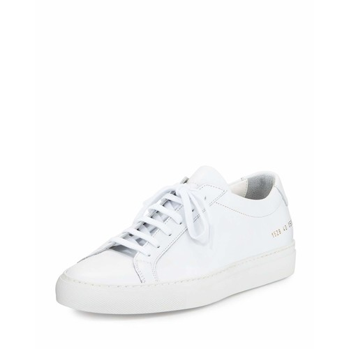 Achilles Leather Low-Top Sneaker, White