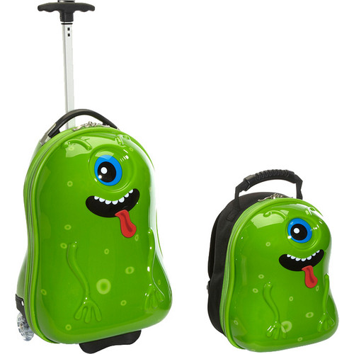 TrendyKid Travel Buddies Alien 2-Piece Luggage Set