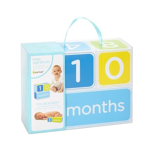 Pearhead Blue Photo Sharing Baby Age Blocks