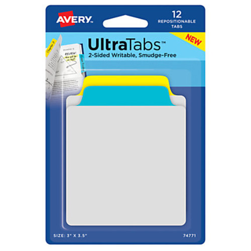 Avery Ultra Tabs Repositionable Tabs & Notes, 3