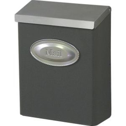 Gibraltar Mailboxes Designer Venetian Bronze with Satin Nickel Decorative Emblem Locking Vertical Wall-Mount Mailbox