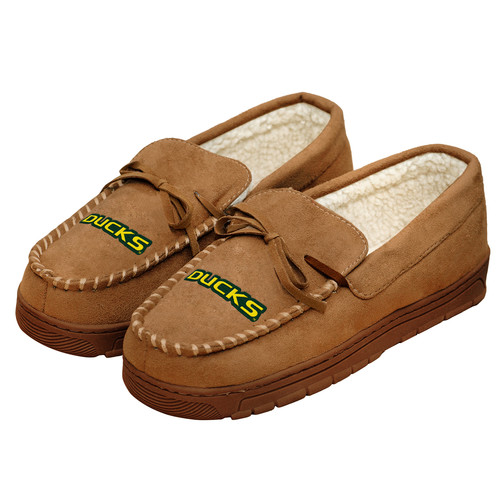 NCAA Mens Logo Moccasin Slippers - Oregon Ducks