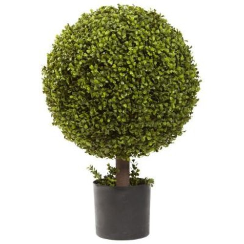 Nearly Natural 27 in. Boxwood Ball Topiary