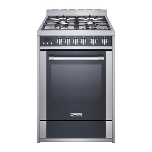 Magic Chef 24 in. 2.7 cu. ft. Gas Range with Convection in Stainless Steel