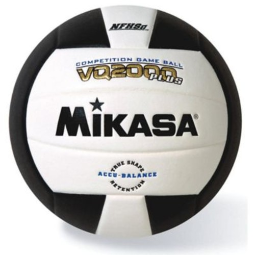 Mikasa Premier Series Indoor Competition Volleyball, White/Black
