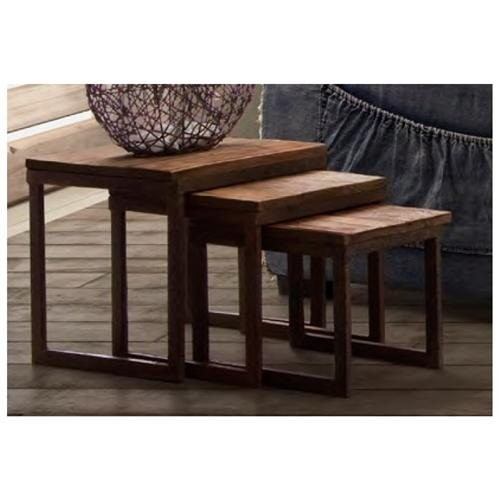 Civic Center Nesting Tables in Distressed Natural by Zuo Era