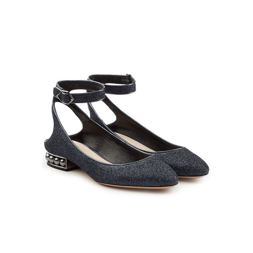 Lola Pearl Ballerinas with Ankle Strap